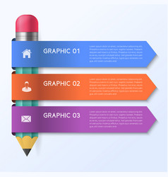 Infographic template with pencil concept vector