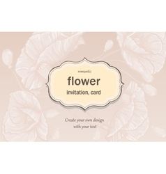 Invitation greeting card in pastel colors with vector image