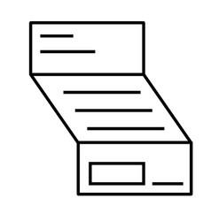invoice icon vector image