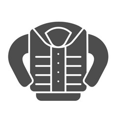 Jacket solid icon clothing vector