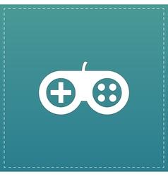 Joystick flat icon vector