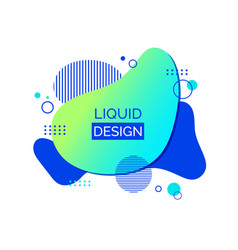 liquid abstract shape fluid design vector image