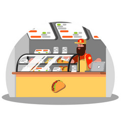 Mexican food worker vector
