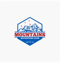 Mountains logo-badge-3 vector