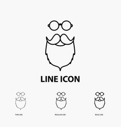 Moustache hipster movember beared men icon in vector