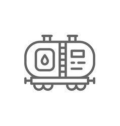 oil tank petroleum wagon with fuel railroad vector image