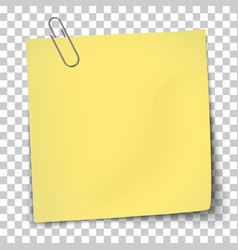 Paper mockup yellow note vector
