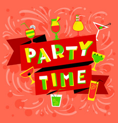 party time lettering nightclub invitation vector image