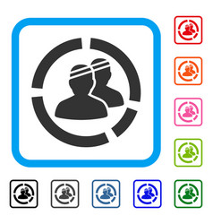 Patients diagram framed icon vector