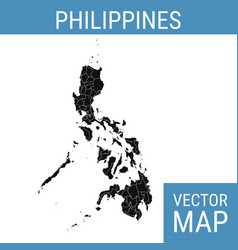 Philippines map with title vector