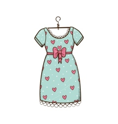 Pretty dress vector