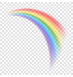 Rainbow icon realistic 8 vector