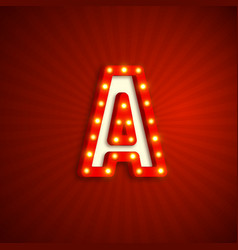 Retro style letter a vector