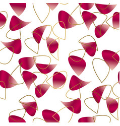 romantic floral petal seamless pattern vector image