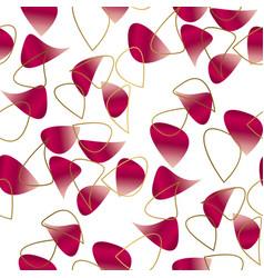 romantic floral petal seamless pattern vector image