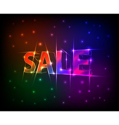 SALE text made of neon lights effect vector image
