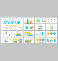 set of startup and business elements for vector image