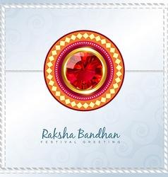 Shiny rakhi background vector