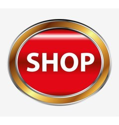 Shop button vector