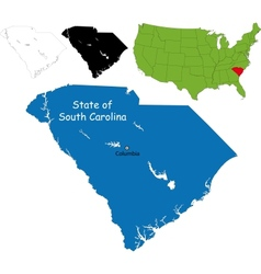 South carolina map vector image