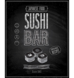 sushi bar chalk vector image