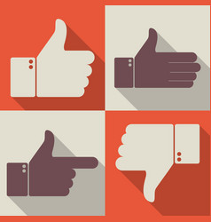 thumbs up like dislike icons for social network vector image