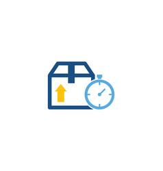 time logistic logo icon design vector image