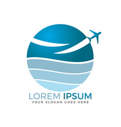 travel agencies and aviation companies logo design vector image