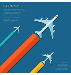 Travel flat design flyer template vector