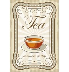 Vintage tea posters vector image