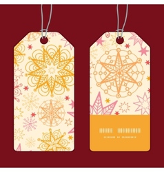 Warm stars vertical stripe frame pattern tags set vector