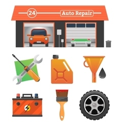 Auto repair icons set vector image vector image