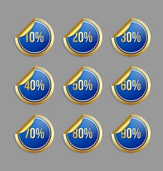 Bargain stickers vector image vector image