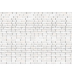 Elegant realistic trendy white brick wall vector image