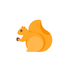 flat style of squirrel vector image vector image