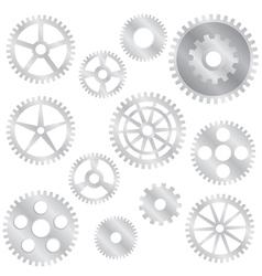 Gear set vector image