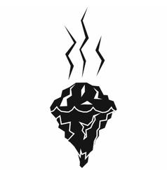 Glacier melting icon simple style vector image