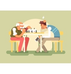 People play chess vector image vector image