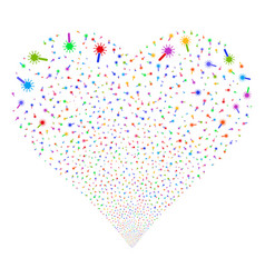 Wand magic tool fireworks heart vector