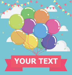 balloon with message on banner vector image