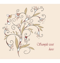 Floral element for your design vector image vector image