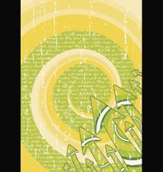 green retro arrows stylish sheet vector image vector image
