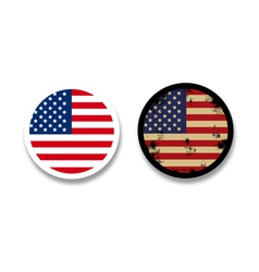 Grunge american flag badges vector