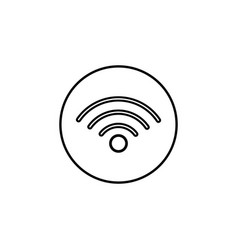 wifi line icon mobile sign and hotspot vector image