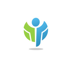 active figure logo fitness and healthy symbol vect vector image