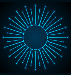 blue shiny neon abstract star background vector image
