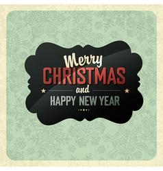 Christmas vintage poster vector image