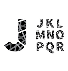 cut paper font vector image