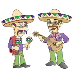 Mexican musician vector image vector image