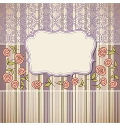 vintage backgroundgreeting card or invitation vector image